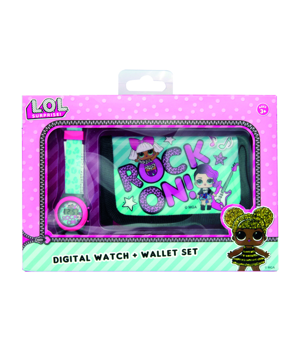LOL SURPRISE DIGITAL WATCH WITH WALLET IN A GIFT BOX
