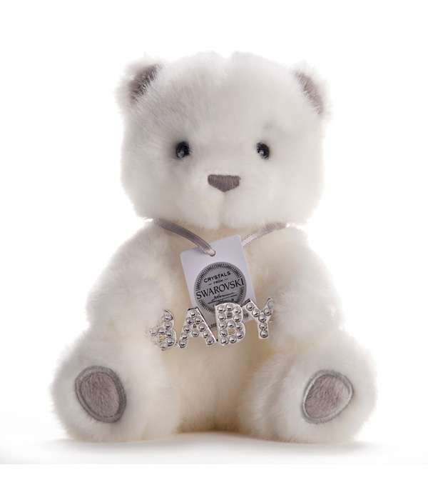 "BAILEY BEAR  CHIC & LOVE 15 ""BABY"" WITH REAL SWAROVKSI STONES"