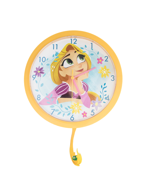 Rapunzel Orologio Da Parete Con Pendolo Di Carta