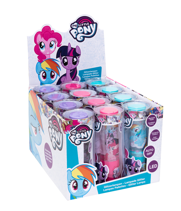 Perfect JOY TOY MY LITTLE PONY LED GLITTER LAMP IN A COUNTER DISPLAY.