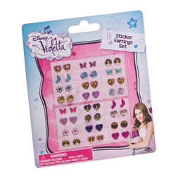 VIOLETTA 24 EARRINGS STICKER ON BACKER CARD