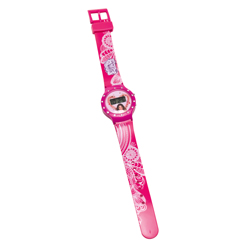 VIOLETTA LCD WATCH WITH RHINESTONES IN BLISTER PACK