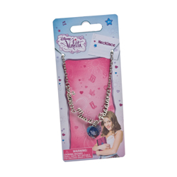 VIOLETTA NECK CHAIN WITH HEART SHAPE PENDANT ON BACKER CARD