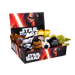 STAR WARS DISPLAY PLUSH 17 CM - 24 PCS ASSORTED