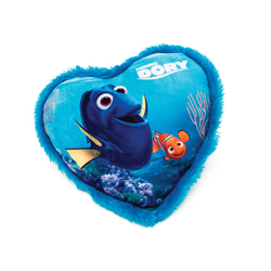 FINDING DORY HEART-SHAPED PILLOW, 33 CM LENGTH X 33 CM WIDTH