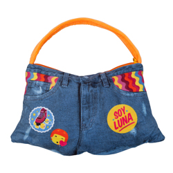 SOY LUNA 2 IN 1 CUSHION AND PLUSH BAG IN JEANS LOOK 36X22 CM
