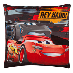 "CARS 3 -""REV HARD"" SQUARE CUSHION WITH SFX (SOUND) 40x40 cm"