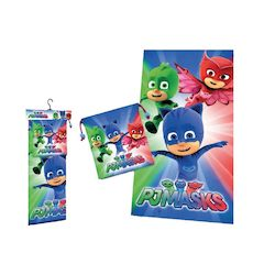 PJ MASK SET WITH TOWEL AND GYMBAG