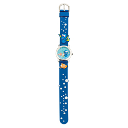 FINDING DORY ANALOG WATCH WITH STRAP AND CARVED ELEMENTS IN BLISTER PACK