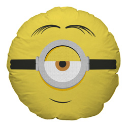 MINIONS 2 ROUND CUSHION WITH EMBOSSED GLASSES