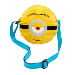 MINIONS 2 ROUND PLUSH BAG WITH EMBROIDERED DETAILS