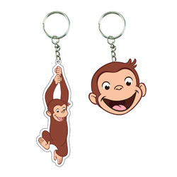 CURIOUS GEORGE RUBBER KEY RING