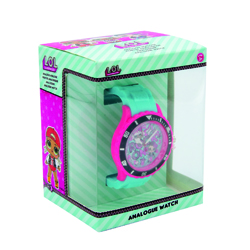 LOL SURPRISE ANALOG WATCH WITH SILICONE STRAP