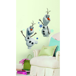 DISNEY FROZEN OLAF THE SNOW MAN PEEL AND STICK WALL DECAL IN BLISTER PACK
