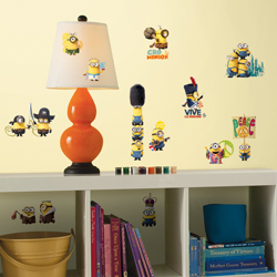 MINIONS WALL DECALS 4 SHEET IN BLISTER PACK