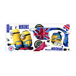 MINIONS WANDSTICKER GROSS