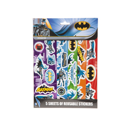 BATMAN STICKER - 5 BÖGEN
