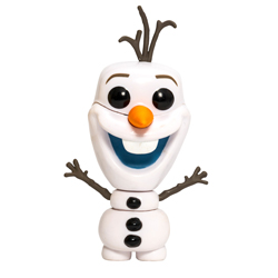 DISNEY FROZEN OLAF VINYL FIGURE WITH MOVABLE HEAD IN GIFT WRAP