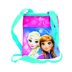 FROZEN SHOULDER BAG WITH PVC PATCH 6X16X19 CM