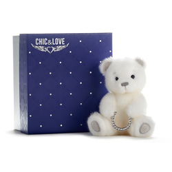BAILEY BEAR  CHIC & LOVE 15 WITH HORSESHOE WITH REAL SWAROVKSI STONES