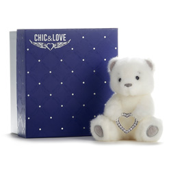 BAILEY BEAR  CHIC & LOVE 15 WITH HEART WITH REAL SWAROVKSI STONES