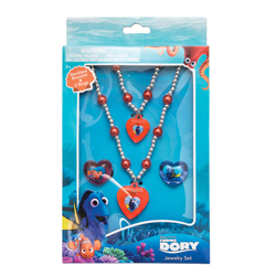 FINDING DORY NECKLACE, BRACELET AND TWO RINGS JEWELLERY SET IN GIFT WRAP