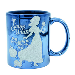 CINDERELLA AND SNOW WHITE GLITTER CUP - IN A GIFT BOX