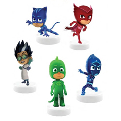 PJ MASKS STAMPERS WITH 3D FIGURE - 3 PCS ON BLISTERCARD