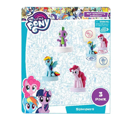 MY LITTLE PONY STAMPERS WITH 3D FIGURE - 3 PCS ON BLISTERCARD