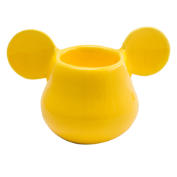 MICKEY MOUSE 3D EIERBECHER GELB 11X7X7 CM