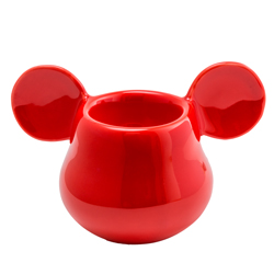 MICKEY MOUSE 3D EIERBECHER ROT 11X7X7 CM