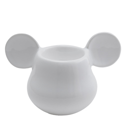 MICKEY MOUSE 3D EIERBECHER WEISS 11X7X7 CM