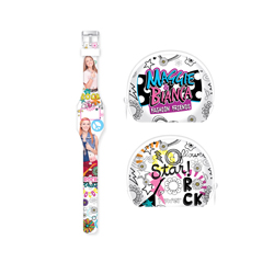 MAGGIE & BIANCA SET WITH LED WATCH AND PURSE
