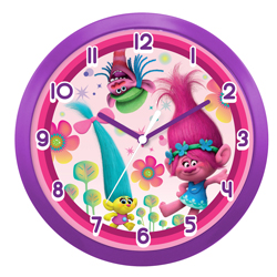 TROLLS WALL CLOCK IN GIFT WRAP, 24 CM DIAMETER