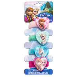 DISNEY FROZEN DISNEY THE ICE QUEEN PONYTAIL HOLDER ON BACKER CARD
