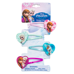 DISNEY FROZEN 4 SNAP CLIPS ON BACKER CARD