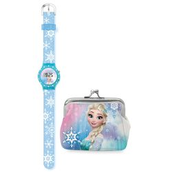 FROZEN SET DIAMANTE LCD WATCH AND PURSE