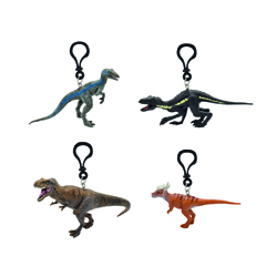 JURASSIC WORLD 2 - 3D PVC KEYCHAINS 7-11 CM - 24 PCS ASSORTED
