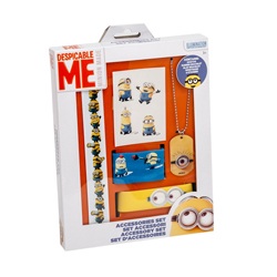 MINIONS 5 PIECES ACCESSORY SET IN GIFT WRAP