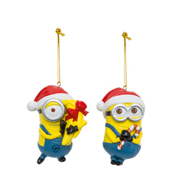 MINIONS DESPICABLE ME 2 CHRISTMAS TREE DAVE AND CARL BLOW MOLD ORNAMENTS