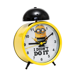 MINIONS MONOBELL ALARM CLOCK BEEP BEEP ALARM SOUND, WITH BACKLIGHT