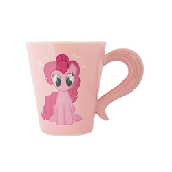 PINKIE PIE CERAMIC MUG WITH TAIL SHAPED HANDLE,410 ML IN GIFTBOX 10X14X10 CM