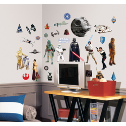STAR WARS CLASSIC WALL DECAL 4 SHEET IN BLISTER PACK