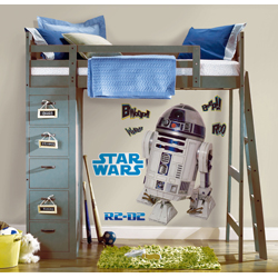 STAR WARS R2-D2 GIANT WALL DECAL 2 SHEET IN BLISTER PACK