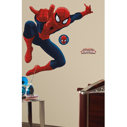 SPIDERMAN PEEL AND STICK GIANT WALL DECAL IN BLISTER PACK