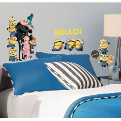 MINIONS THE MOVIE DELUXE PEEL AND STICK 31 WALL DECALS BLISTER PACK
