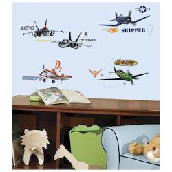 DISNEY PLANES WALL DECALS 4 SHEETS IN BLISTER PACK