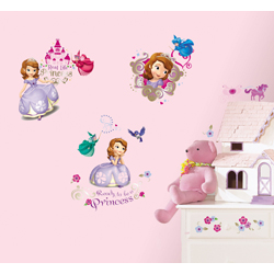 DISNEY SOFIA WALL DECAL 37 ELEMENT IN BLISTER PACK