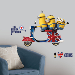 MINIONS GIANT WALL DECAL SHEET IN BLISTER PACK