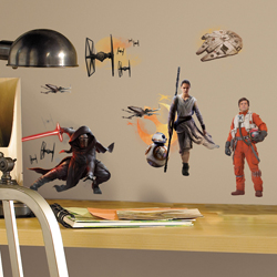 STAR WARS EPISODE VII WALL DECAL IN BLISTER PACK